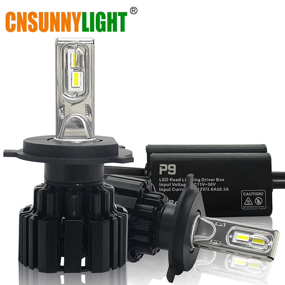 CNSUNNYLIGHT Super Helle LED Auto Scheinwerfer H7 H11/H8 9005/HB3 9006/HB4 9012 D1/D2/D3/D4 H4 H13 45 Watt 6800Lm/Birne 6000 Karat Pure White