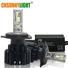 Cnsunnylight супер яркий свет фар автомобиля H7 H11/H8 9005/HB3 9006/HB4 9012 D1/D2 /D3/D4 H4 H13 45 Вт 6800Lm/шарик 6000 К чистый белый