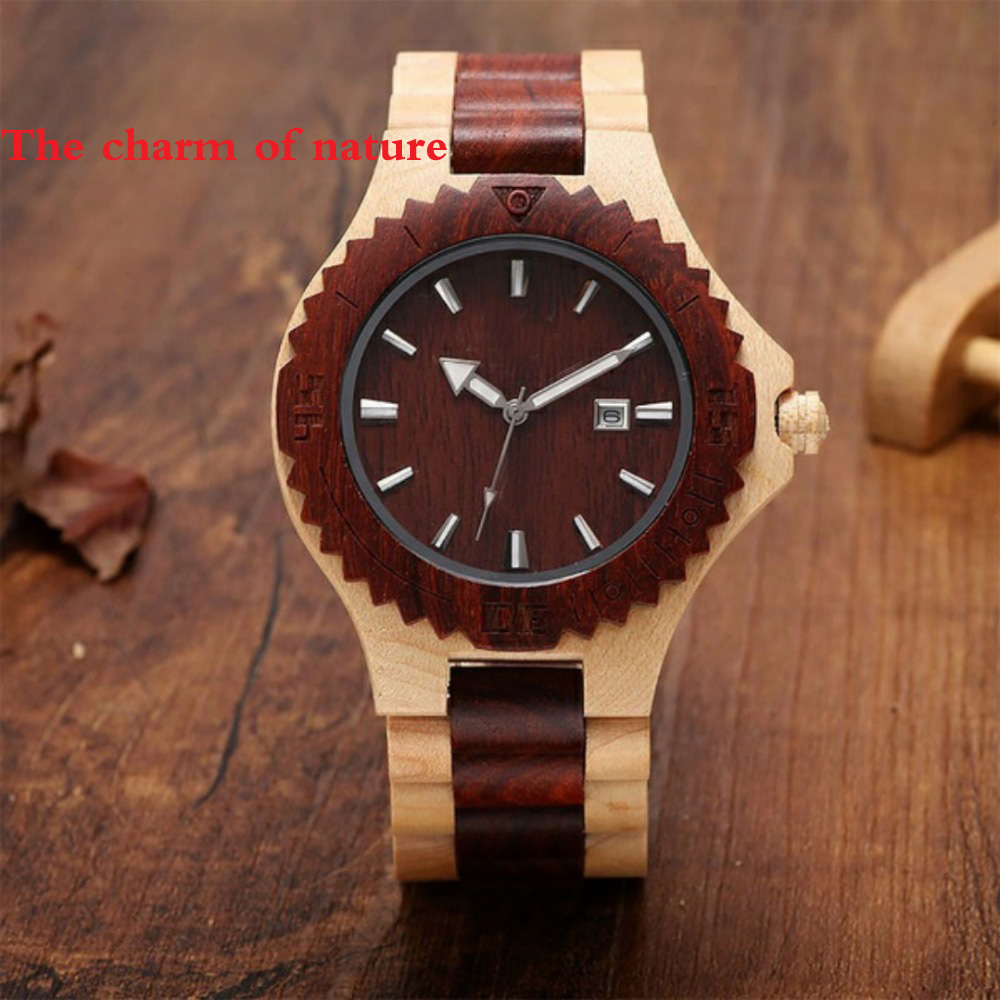Top Brand Unique Wood Watch Ebony Zebra Wooden Watches for Men White Roman Number Quartz Watch Natural Wooden Wrist Watches wooden wrist watch mens top luxury brand new natural quartz wooden verawood watches men clock wood watch with led luminous watch