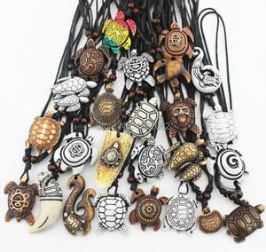 Image 5 - Смешанные ювелирные изделия, оптовая продажа, лот 25 шт., искусственная резная подвеска на удачу с морскими черепашками и серфингом, ожерелье MN386