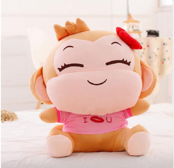 60cm YoCi Plush Monkeys Valentine's Day Gifts For Lovers Cute Menmory Plush Toys A Pair Of YOCI Monkeys YoYo And CiCi Monkeys