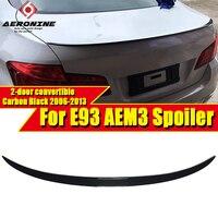 E93 2 door Convertible Spoiler Rear Diffuser Trunk Wing M3 Style Carbon Fiber For 3 Series 325i 330i 335i Trunk Spoiler 2006 13