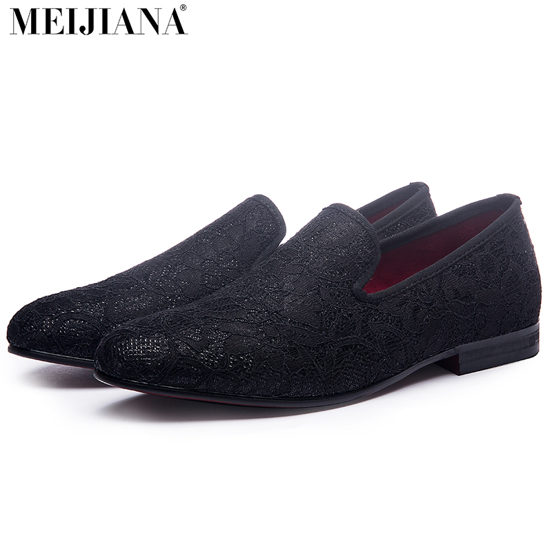 2017 Lace Stitching Cotton Fabric Handmade Men Dress Shoes Simple And Gentleman Style Men's Loafers Fashion leisure men s loafers with hollow out and stitching design