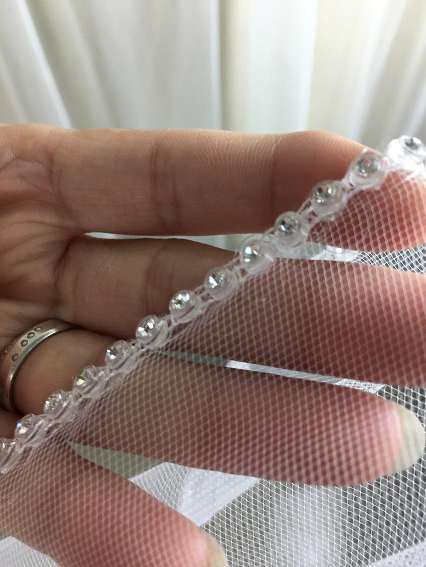 2018 Eleganta Korta bröllopslingor Ett lager 75cm Längd Med kam vit - Bröllopstillbehör - Foto 5