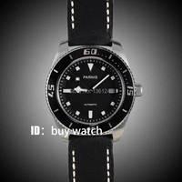 43mm Parnis esfera negra zafiro cristal miyota reloj automático para hombre 10ATM bisel negro 148