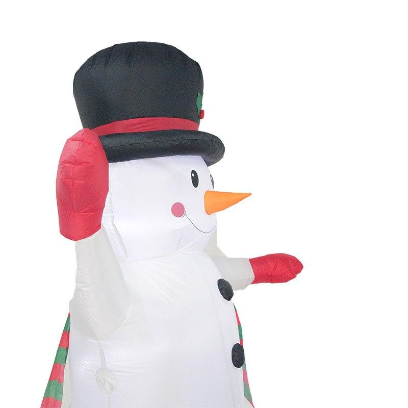 2,4 м Гигантские Надувные Снеговик Blow Up Игрушка Санта Клаус Новогоднее украшение для Отели ужин Рынок развлекательные центры праздник - 4