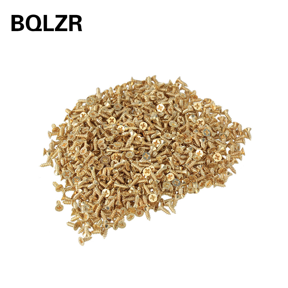BQLZR 2 x 6mm Wood Particle Self-Drilling Wood Screw Hardware Accessories Yellow 100g