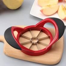 Cortador de fruta y pera de manzana de acero inoxidable, cortador fácil de cortar, pelador de frutas multifunción respetuoso con el medio ambiente, fácil de limpiar