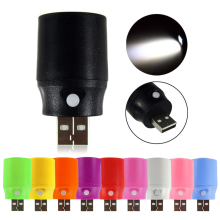 +Hot Sale+ Portable Mini USB LED Light Torch Flashlight Emergency Power Bank Lamp Colorful #