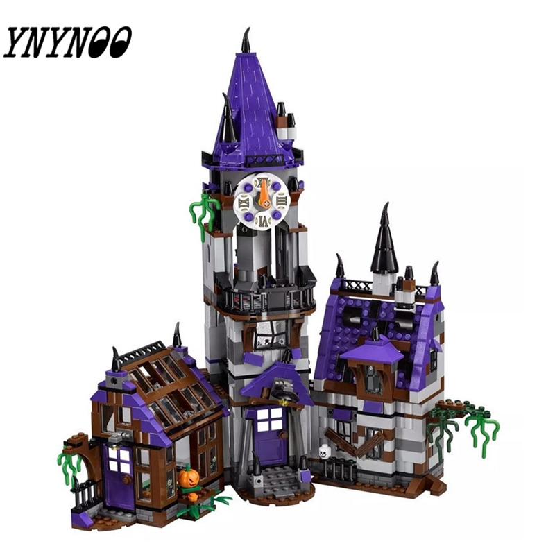 YNYNOO Bela 10432 Scooby Doo Mysterious Ghost House Building Block Toys Legoingly 10432 scooby doo mysterious ghost house 860pcs building block toys compatible legoingly 75904 blocks for children gift