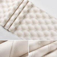 European Style 3D Imitation Leather Soft Package Roll Waterproof Livingroom Wall Decoration Wallpaper