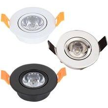 Holofotes led reguláveis de 1w e 3w, minilâmpada iluminada para teto, para balcão de armário, ac110v 220v v v
