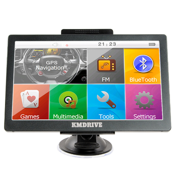 "KMDRIVE 8GB 7"" Touch Screen GPS Navigation with Bluetooth & AV-In Support"