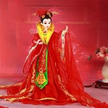Muñecas chinas coleccionables hechas a mano de 12 pulgadas con soporte, muñecas de la novia de la dinastía Tang Vintage, muñecas BJD, juguetes, regalo de boda para niña