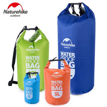 Naturehike Waterproof Water Bag Outdoor Camping Dry Organizer Lightweight Portable Drifting Kayaking Swimming Bag  2L 5L 15L 25L цена 2017