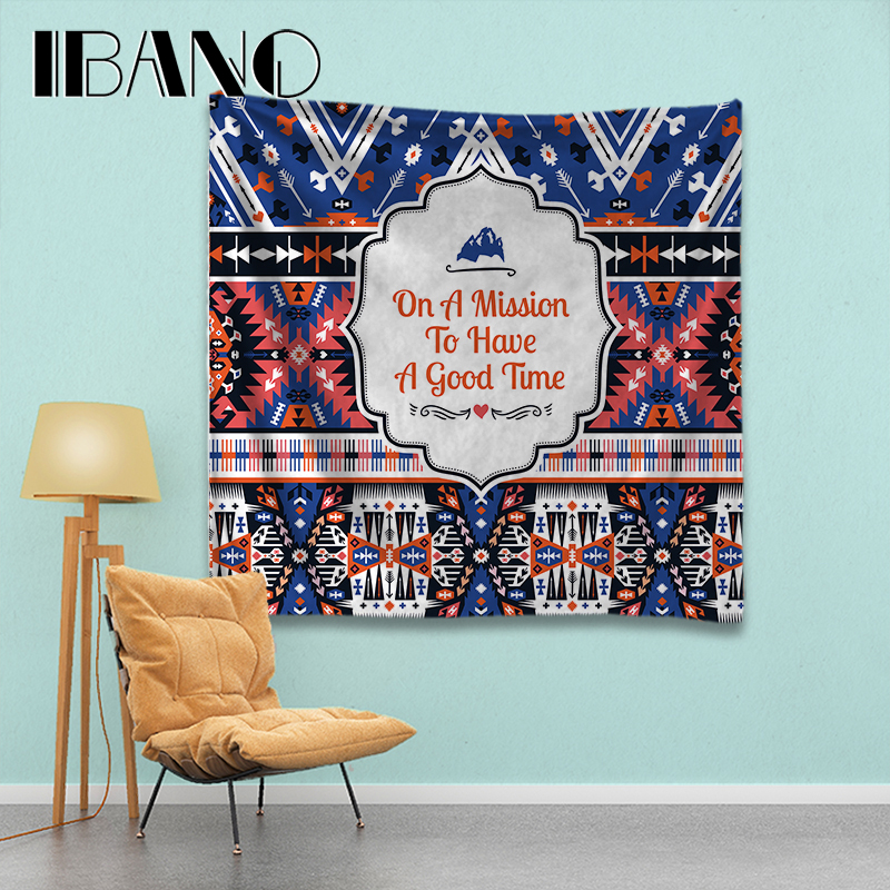 IBANO Say Yes Mandala Tapestry Home Wall Hanging Mandalas Tapestry Blanket Decoration for Bedroom Yoga Mat Tablecloth in Tapestry from Home Garden
