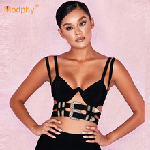 2019 new women's Sexy Bodycon bandages camisole tops hollow