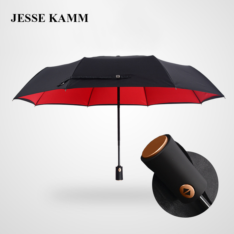 JESSE KAMM New High Quality Double Canopy Fully Automatic Creative For Women Ladies Wife Mother Convenience Portable Umbrellas