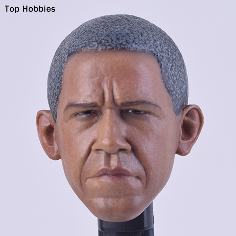 VERY HOT Custom Male Obama America President Head Sculpt Carving Model 1/6 Scale Fit for 12 Inch HT Toys TTL Phicen Body A-29