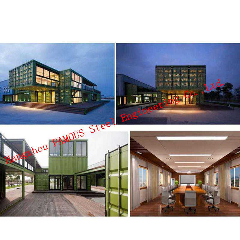 Light Steel Modular Assembled Villa , Commercial Steel Buildings And Boutique Hotel In European Standard