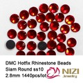 Brilhante 1440 pcs ss10 Siam DMC Hotfix Plana de Cristal de Volta Strass Arte Do Prego Gemas Adesivas Decorações de Pedras De Vidro