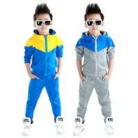 Kids Clothes Boys 2016 Baby Boys Autumn Hoodied Coats And Jackets Pants Set Korean Fashion Children