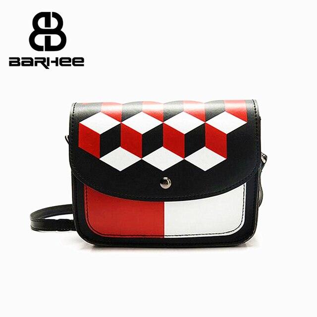 219b9b8ec5 Cheap Bag Women Flap Handbag Small Messenger Bags Fashion Geometric Print  PU Leather Shoulder Bags Ladies Hand Bag sac a main