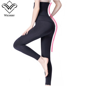 Image 3 - Wechery محدد شكل الجسم السيطرة طويلة سراويل بسط مرنة ملابس داخلية للنساء عالية الخصر ملابس داخلية للتنحيل دنة السراويل