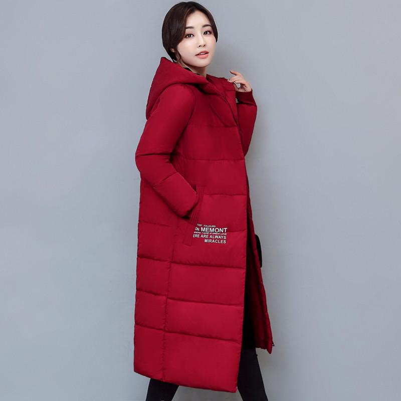 Fashion Letter Print Hooded Cotton Padded Thick Jacket Women Casual Warm Manteau Femme Hiver Girls Long Parka Winter Coat TT3397 women s winter jacket hooded thick warm parkas cartton solid high quality cotton coat manteau femme hiver plus size l 4xl dj29