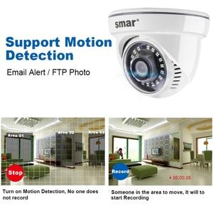 Image 5 - Akıllı yeni HD 1080P kapalı mekan kubbe tipi IP kamera HI3518EV200 15fps gözetleme ağ kamerası hareket algılama ONVIF Nano IR led