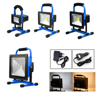 Modern Blue Portable LED Flood Lamp Floodlights 10W 50W Warm White Cold White Lighting Outdoor Emergency Camping Work Light