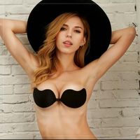 2017 New Sexy Formal Dress One Piece Seamless women silicone Bra Cup Invisible Blade Strapless Ladies Push Up bras Underwear
