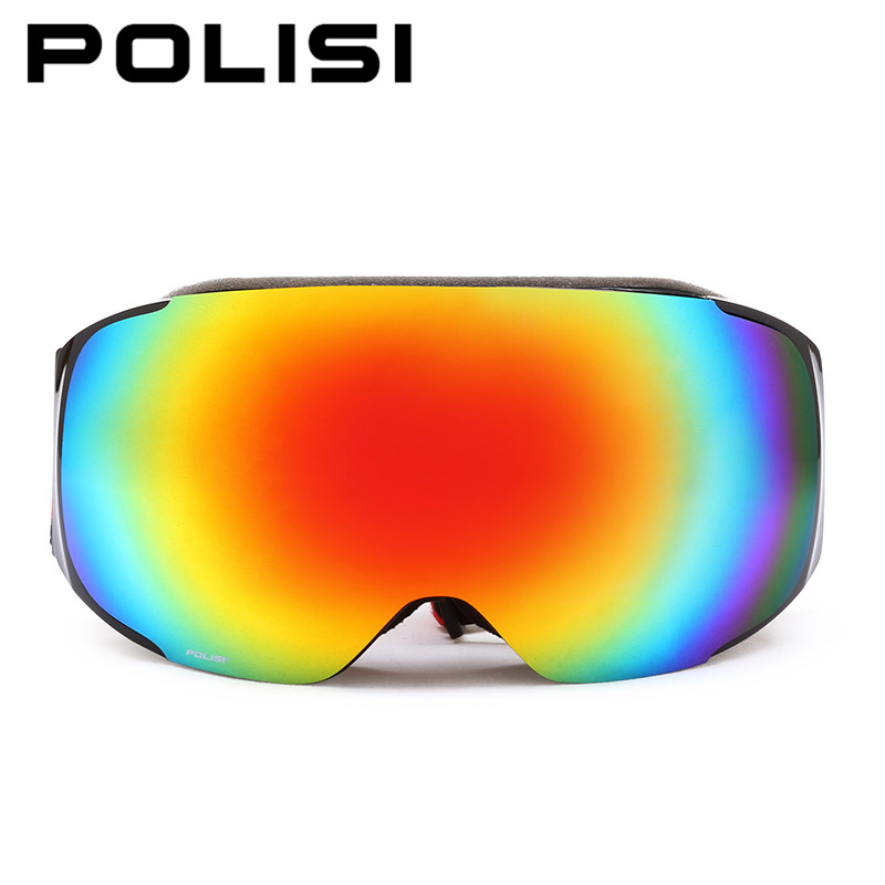 POLISI Men Women Snow Goggles Outdoor Sport Skiing Snowboard Protective Eyewear UV400 Replaceable 2 Lenses Anti-Fog Ski Glasses new 2017 cat eye sunglasses women brand designer vintage outdoor sun glasses for women lentes de sol mujer uv400 eyewear goggles