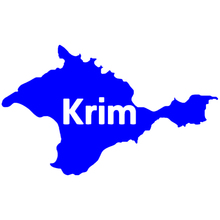 CS-631#15*25cm Crimea in the form of a map funny car sticker vinyl decal silver/black for auto stickers styling