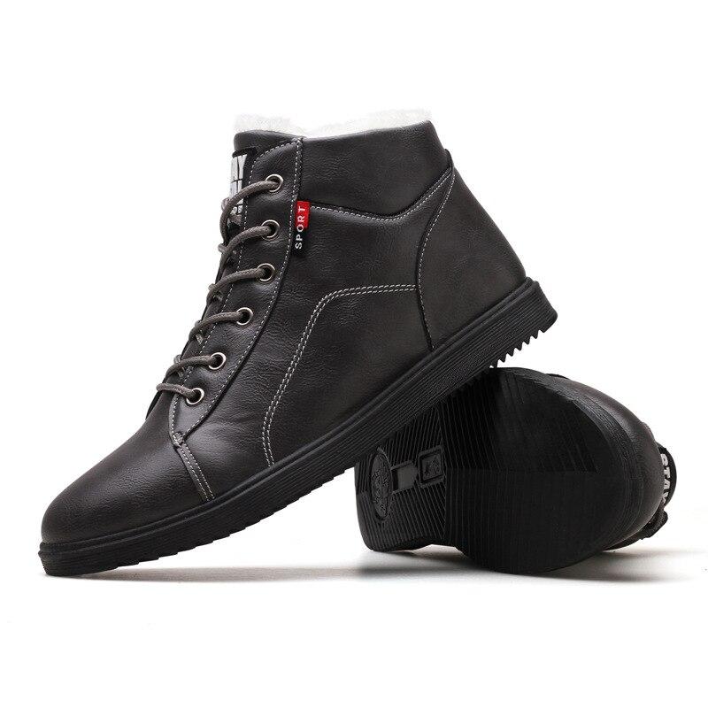 Martin gris Motocicleta Militares Trabajo Negro Hombres Libre marrón Aire Invierno 2019 Nieve Botas Zapatos Otoño Oxfords Los De Al UqYw1