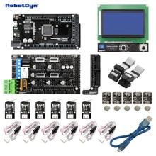3D yazıcı ve CNC KIT2. MEGA 2560 + RAMPALAR 1.4 + Grafik 128×64 denetleyici + sürücüler + End-stop, Arduino için uyumlu ve RepRap