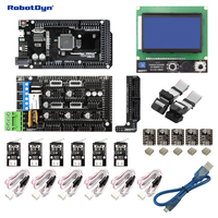 3D Printer CNC KIT2 MEGA 2560 RAMPS 1 4 Graphic 128x64 Controller Drivers End Stop Compatible