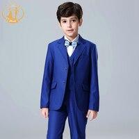 Nimble Blue Suit for Boy School Formal Set Button Blazers for Boys Roupas Infantis Menino Boys Suits for Weddings Kids Blazer