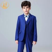 Nimble blue suit for boy School Formal Set Button blazers for boys roupas infantis menino Boys Suits For wedding jogging garcon