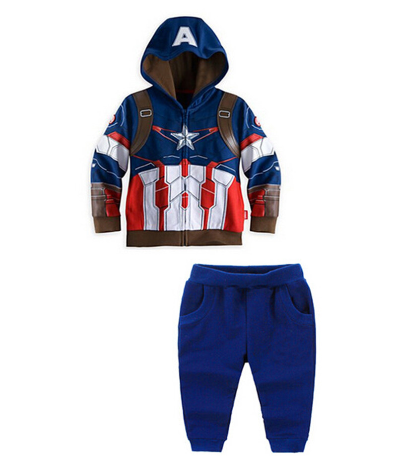 2016 Autumn Avengers Boys Clothing Set Captain America