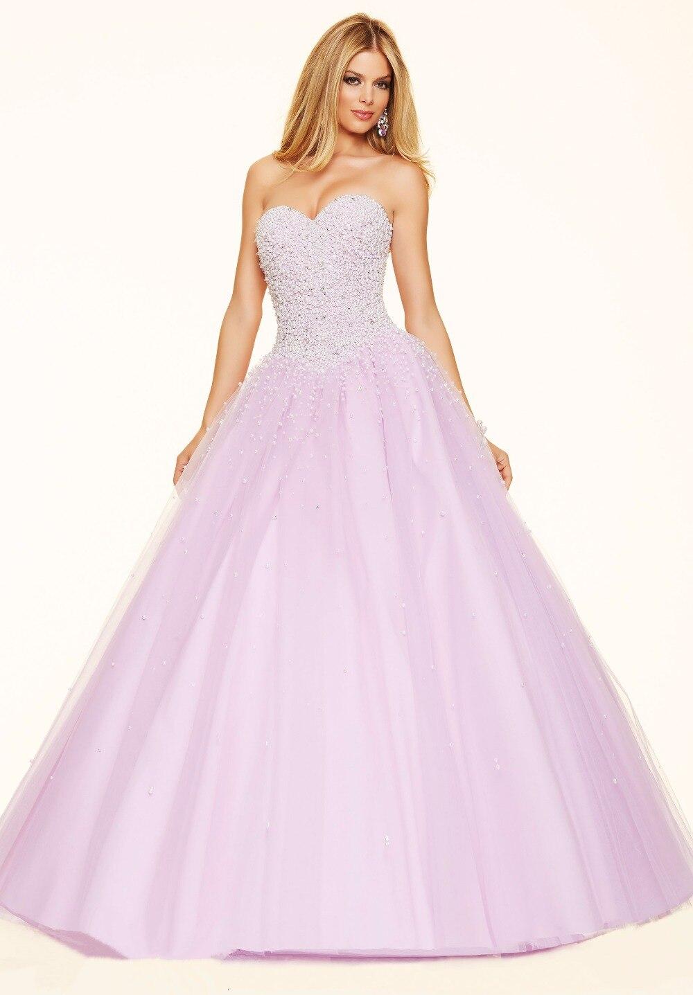 Rosa del vestido de Bola Vestidos de Baile Sweetheart Corset Volver ...
