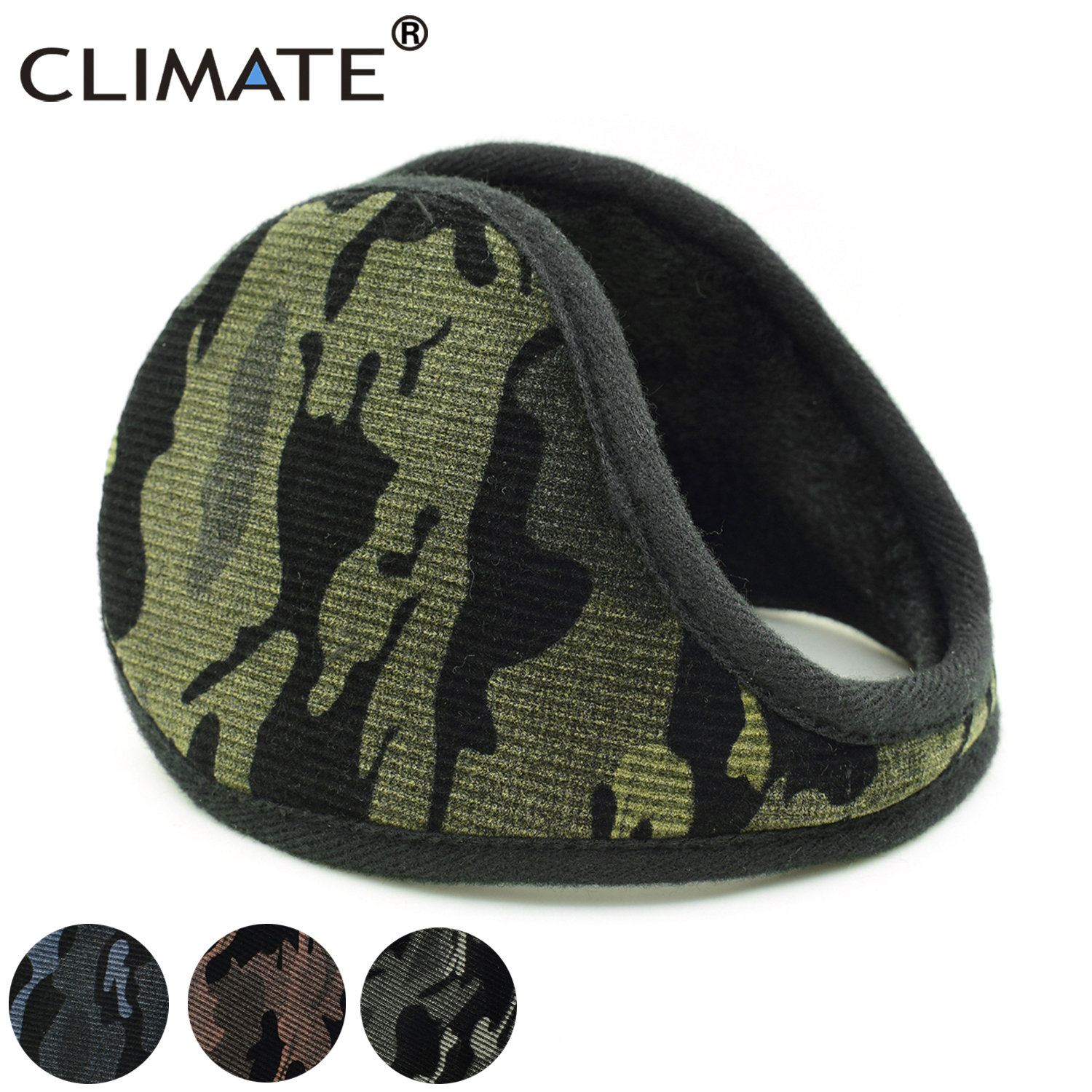230131f0cc64b CLIMATE Men Camouflage Earmuffs Men Winter Ear Warmer Cover Camou Muff Cool  Army Warm Ear Muff Military Ear Muffs for Men Women-in Earmuffs from  Apparel ...