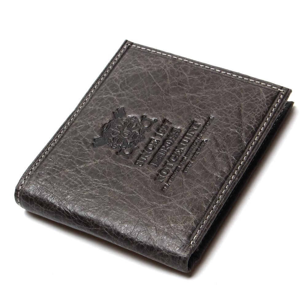 Men Wallets Brown Coffee Real Genuine Cowhide Leather Bifold Wallet Purses Male Credit Cards Coin Pocket Carteira Masculina