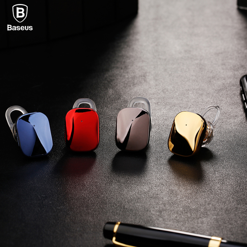 Baseus Mini Bluetooth Earphone Hands-free Wireless Bluetooth Headset Headphone with Mic 4.1 Ear Hook Earbuds Earpieces For Phone k9 bluetooth headset bluetooth v4 1 earbuds wireless earphone voice promote noise cancelling headphone for phone pc ear hook