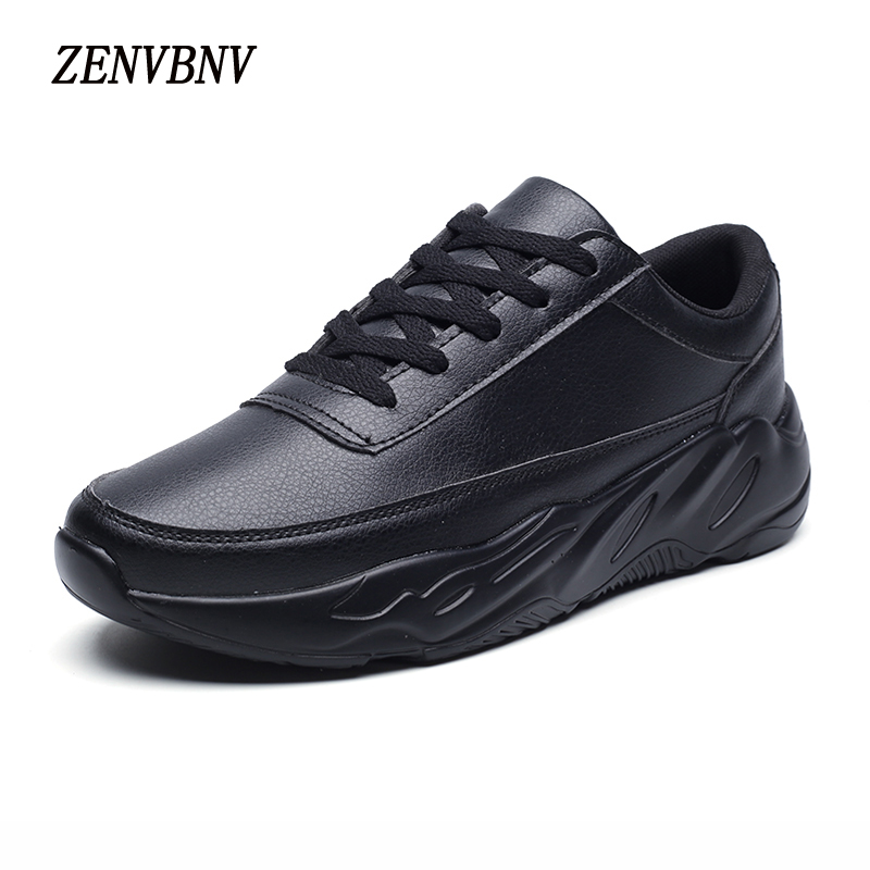 ZENVBNV 2017 New Fashion Men Casual Shoes Men Flats Sneakers Breathable Bright Leather Casual Shoes Tenis Feminino Trainers 2017brand sport mesh men running shoes athletic sneakers air breath increased within zapatillas deportivas trainers couple shoes