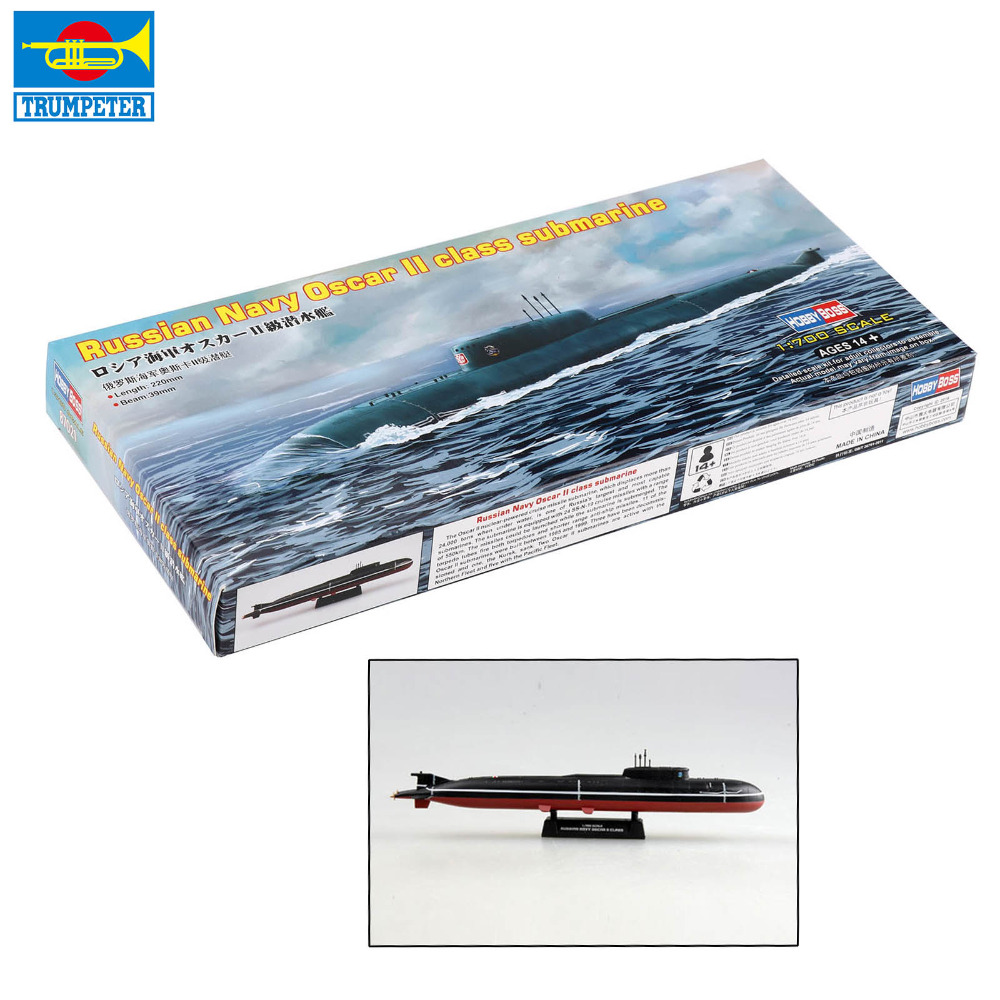 Trumpeter 1/700 1:72 Manned Submersible American Small Shark Submarine  Russian Navy Oscar II Class Submarine Assembling Toys