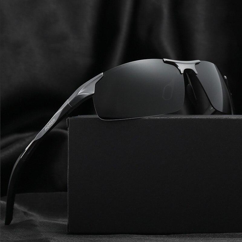 Men Polarized UV400 High Quality Brand Sunglasses Male Driving Black Sun Glasses Aluminum Magnesium lentes de sol hombre