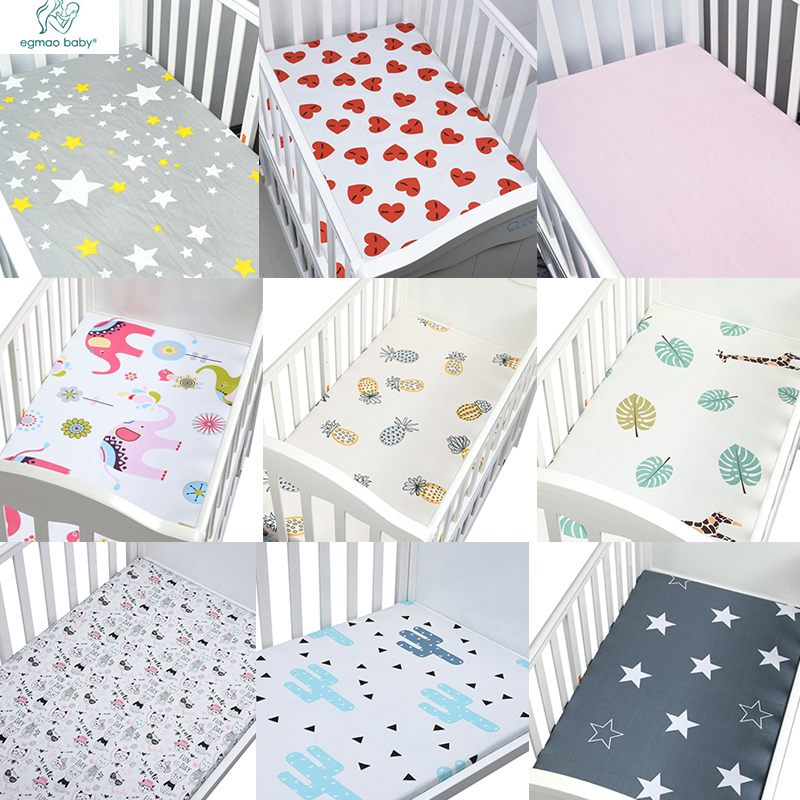 High Fashion 100% Cotton Crib Fitted Sheet Soft Baby Bed ...