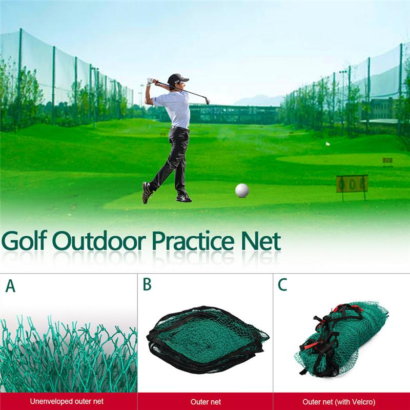 1m * 1m Golf Outdoor Large Practice Net Trainer estimulador conveniente para interior y Golf al aire libre rango de conducción Agarre del palo de Golf Universal antideslizante Grips Wrap accesorios de entrenamiento para palos de Golf de hierro palos de madera