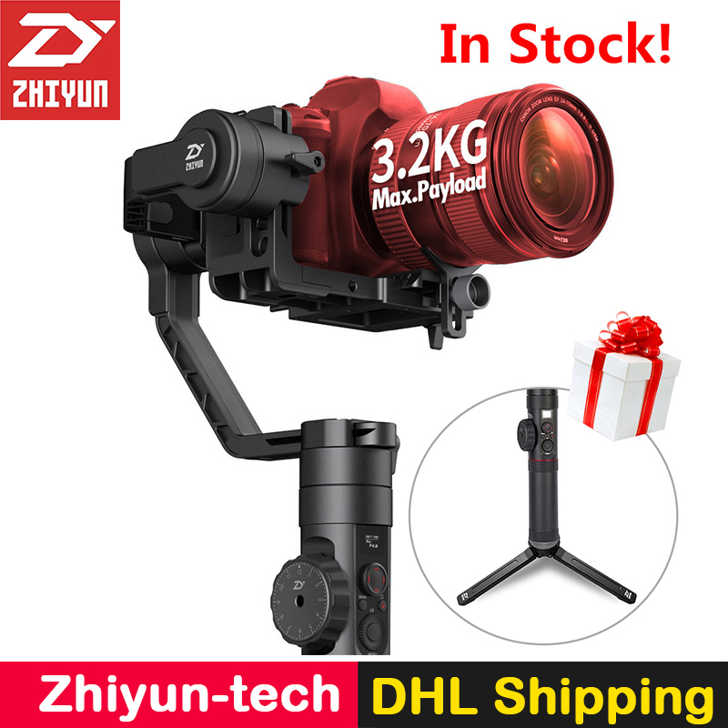 Zhiyun Crane 2 Handheld 3-Axis Camera Stabilizer Follow Focus Gyro Gimbal for Nikon Canon Sony Panasonic DSLR Mirrorless Cameras bestablecam h4 rtf brushless handheld encoder mirrorless digital camera gimbal gyro stabilizer for gh3 gh4 a7s nex5 bmpcc